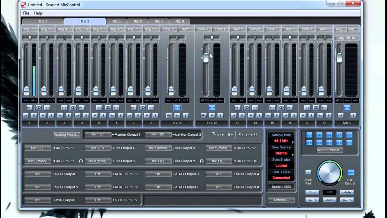 how to add more channels to focusrite 18i20