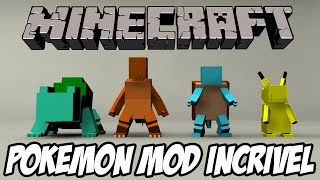 Minecraft - Pokemon MOD MELHOR DE TODOS QUE JÁ VI!