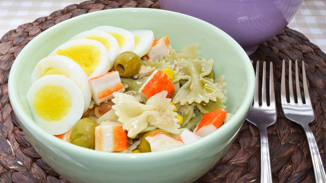Ensalada de pasta recetas de ensaladas youtube - Ensalada fresca de pasta ...