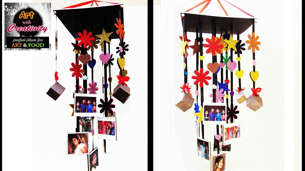 Wind Chime | Hanging Photo Frame | Art with Creativity - YouTube