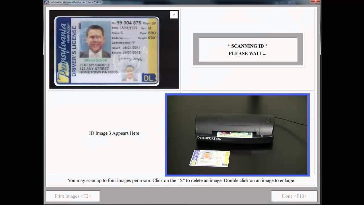 Advanced ID Scanner for Check-Inn