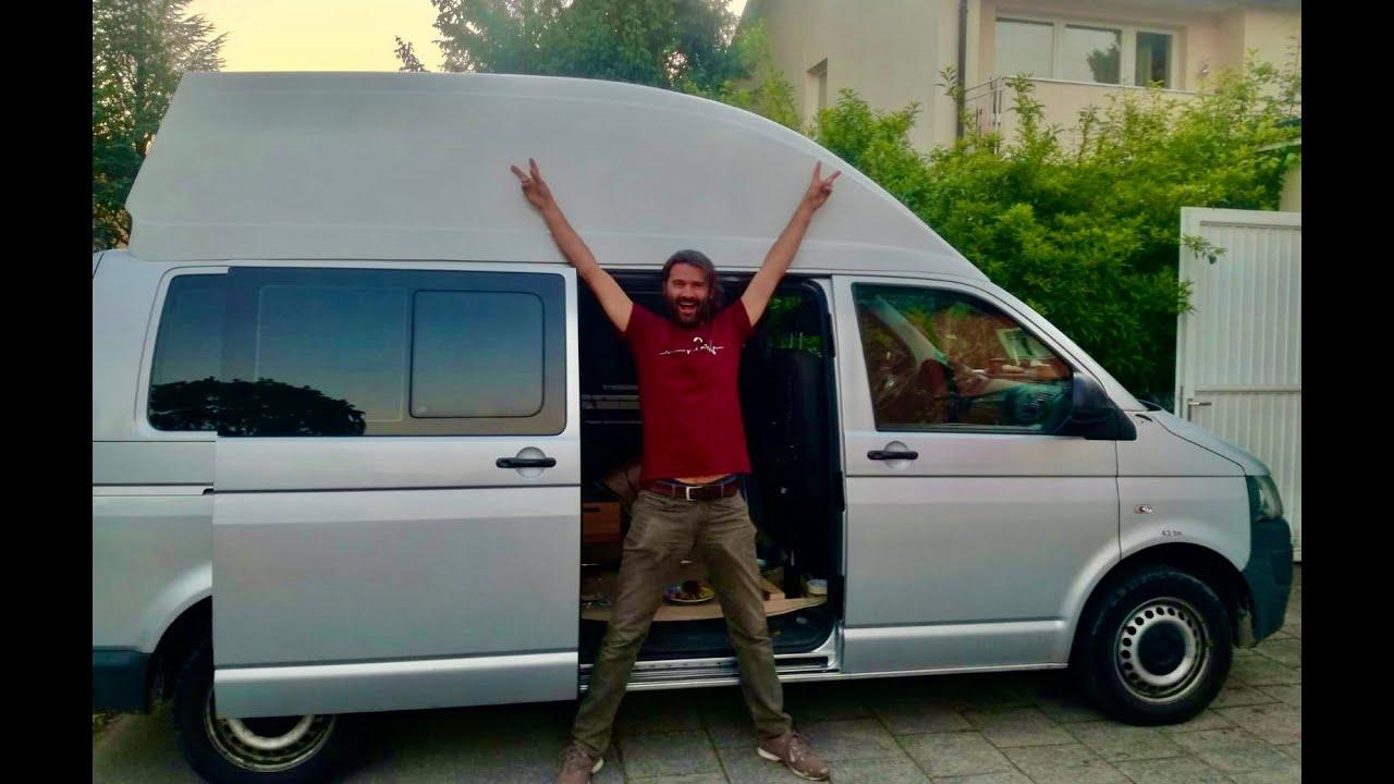 VW-T8 Transporter zum Wohnmobil, ( Teil 8 ) Dachausschnitt für HOCHDACH  REIMO ERGOLINE