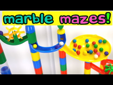 Giant Marble Runs Teach Colors and Numbers