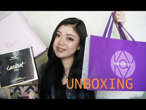 UNBOXING Tarte, Kay Collection & Althea