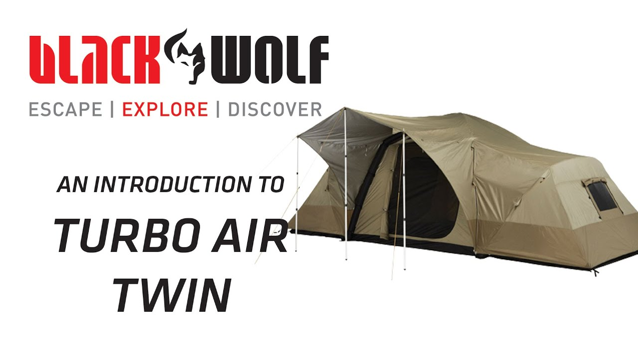 sc 1 st  YouTube & BlackWolf Turbo Air Twin Tent - YouTube