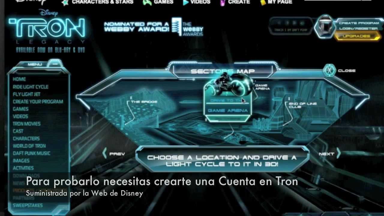 Landitech Unity Web Player nos sorprende en el Mundo de TRON