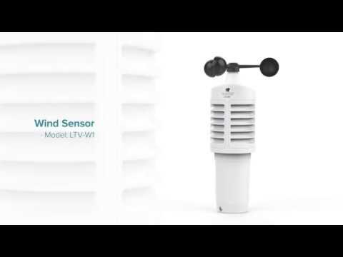 Wireless Color Weather Station Wind Sensor Demo