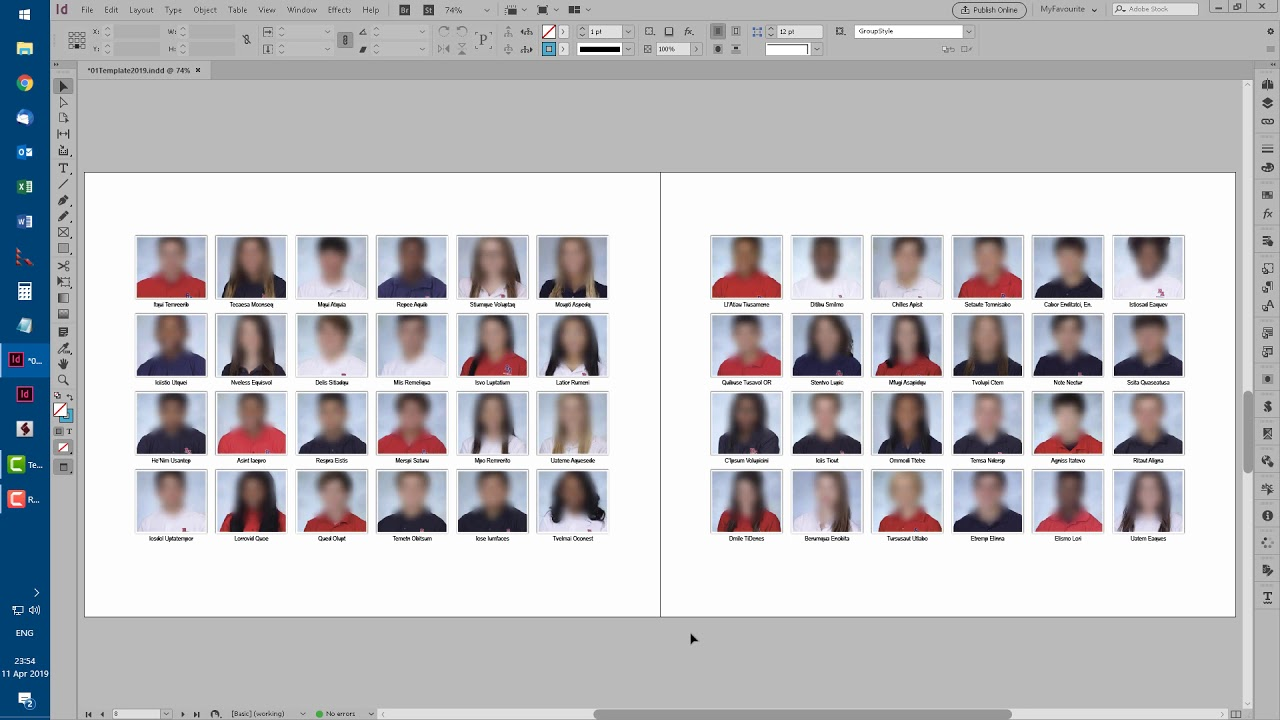 Creating High School Yearbooks in InDesign   Id-Extras com