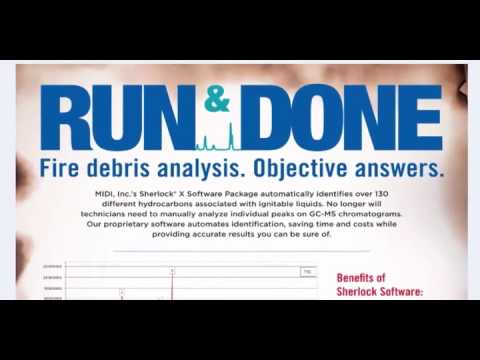Sherlock X: Fire Debris Analysis Software