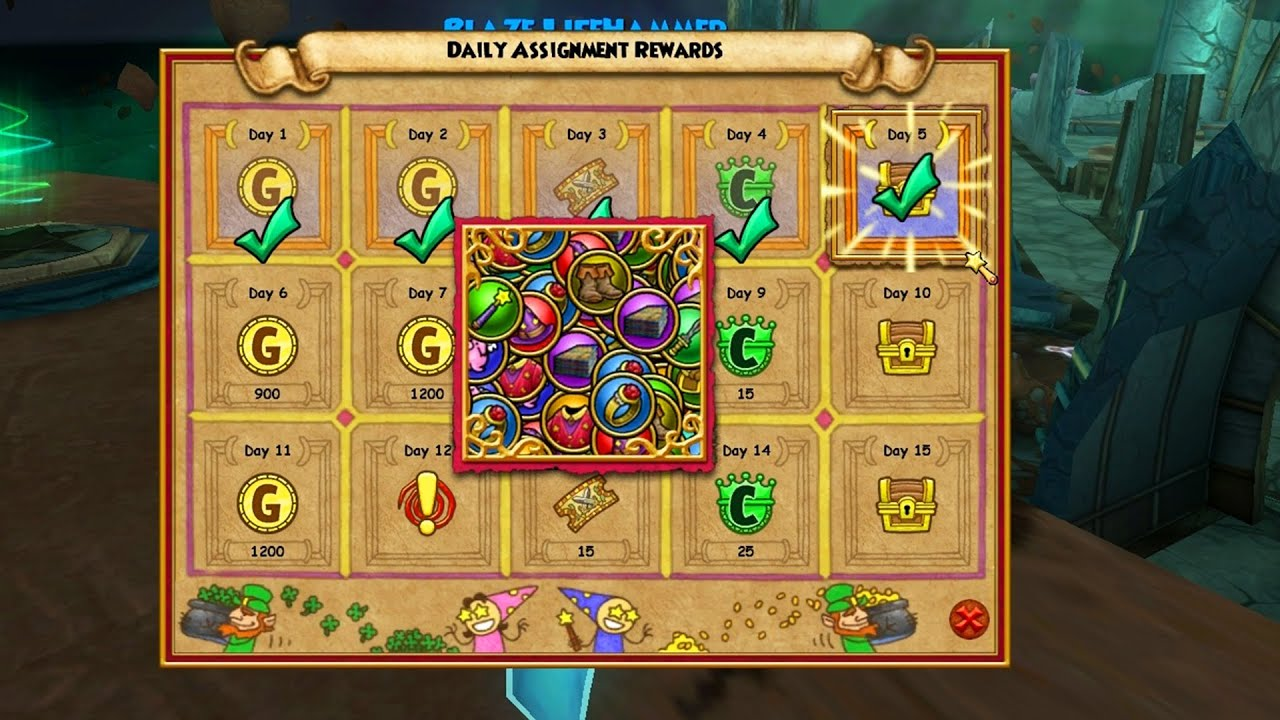 Wizard101: Opening the Daily Assignments Reward Chest ...