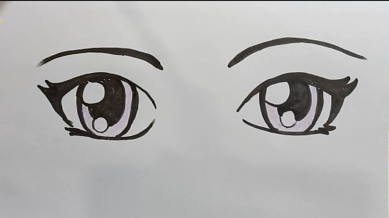 How To Draw Anime Eyes Step By Step Draw For Kids Youtube