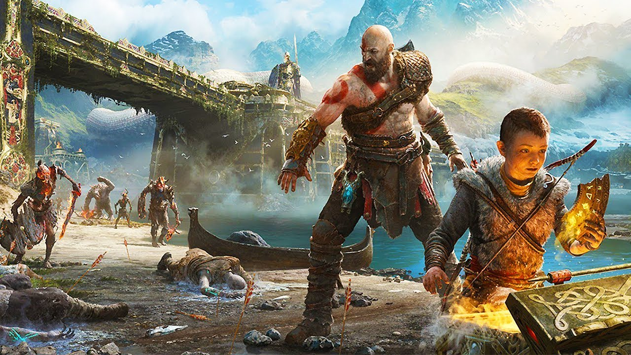 God of war 4 all 60 minutes of gameplay so far ps4 2018 - God of war wallpaper for ps4 ...