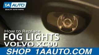 How To Install Replace Fog Driving Light Volvo XC90 03-12 1AAuto.com