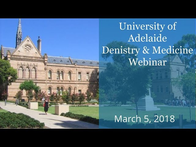 University of Adelaide Dentistry & Medicine Webinar - brought to you by KOM - March 5, 2018