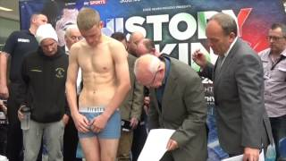 LEWIS PAULIN v BRAD BOTHAM - OFFICIAL WEIGH IN & HEAD TO HEAD / HISTORY IN THE MAKING