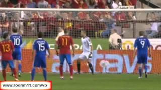 EURO2012予選 スペインvsリヒテンシュタイン 6-0 2011年9月6日