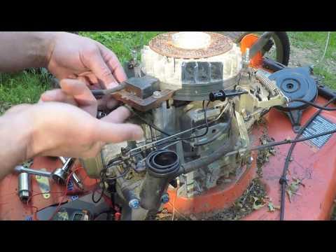 Honda powered Husqvarna lawnmower repair Part 1