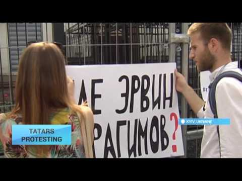 Tatars Protesting: Crimean Tatars demand release of their abducted compatriot