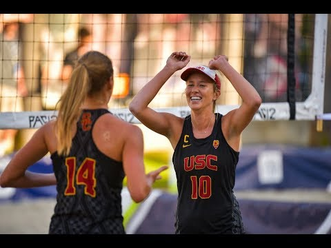 2019 Pac-12 Beach Volleyball Championship: No. 2 USC shuts out No. 7 Washington in first match on...