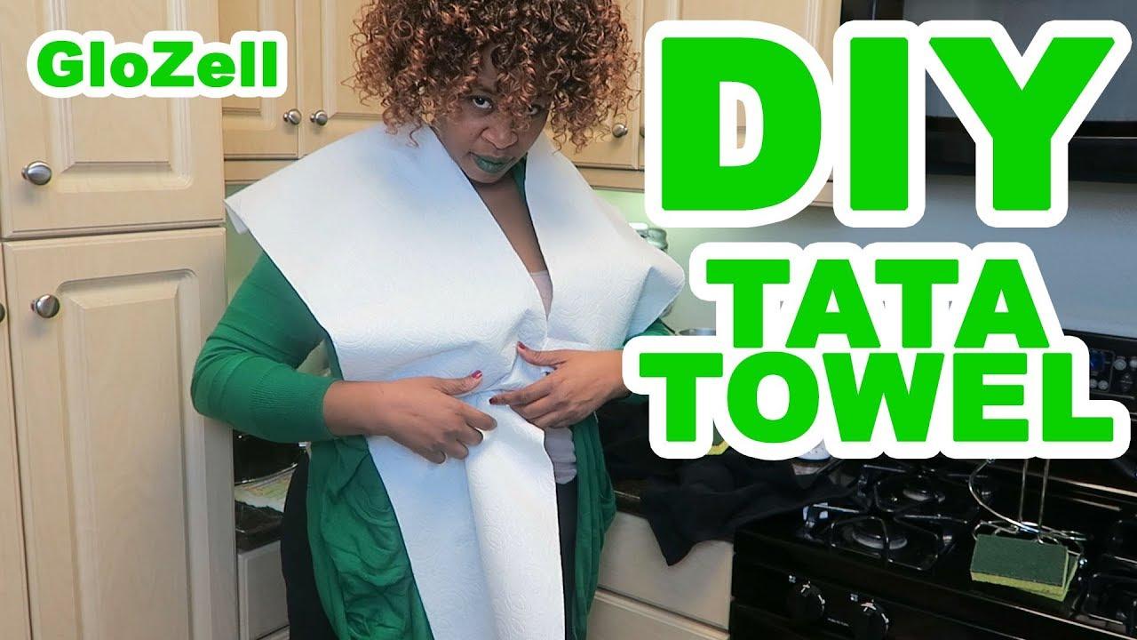 a56110c7a3 DIY Tata Towel - GloZell - YouTube