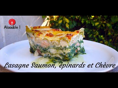 lasagnes-saumon-Épinards-et-chèvre