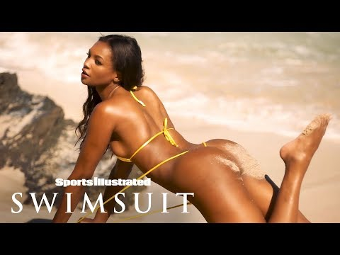 Jasmyn Wilkins Shows Off Her Sandy Cheeks, Makes A Splash   Outtakes   Sports Illustrated Swimsuit
