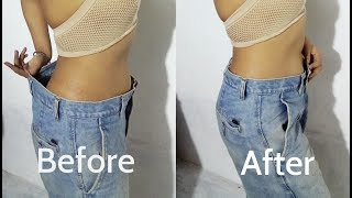 HOW TO RESIZE JEANS WAIST IN 1 MIN