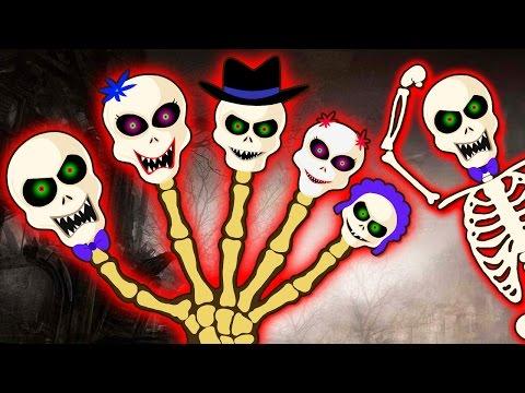 Crazy Skeleton Finger Family Part 2 | Spooky Nursery Rhymes | HooplaKidz Toons