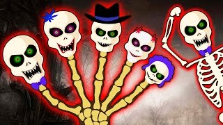 crazy skeleton finger family part 2 spooky finger family scary nursery rhymes hooplakidz toons
