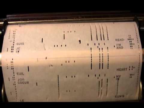 Singin' In The Rain Original 1929 version  Player Piano Roll  2012 01 19 21 25 09