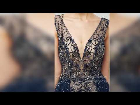 dramatic-v-neck-patternedly-beaded-sheer-tulle-overlay-red-carpet-gown