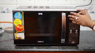 IFB microwave 30L rotisserie convection unboxing