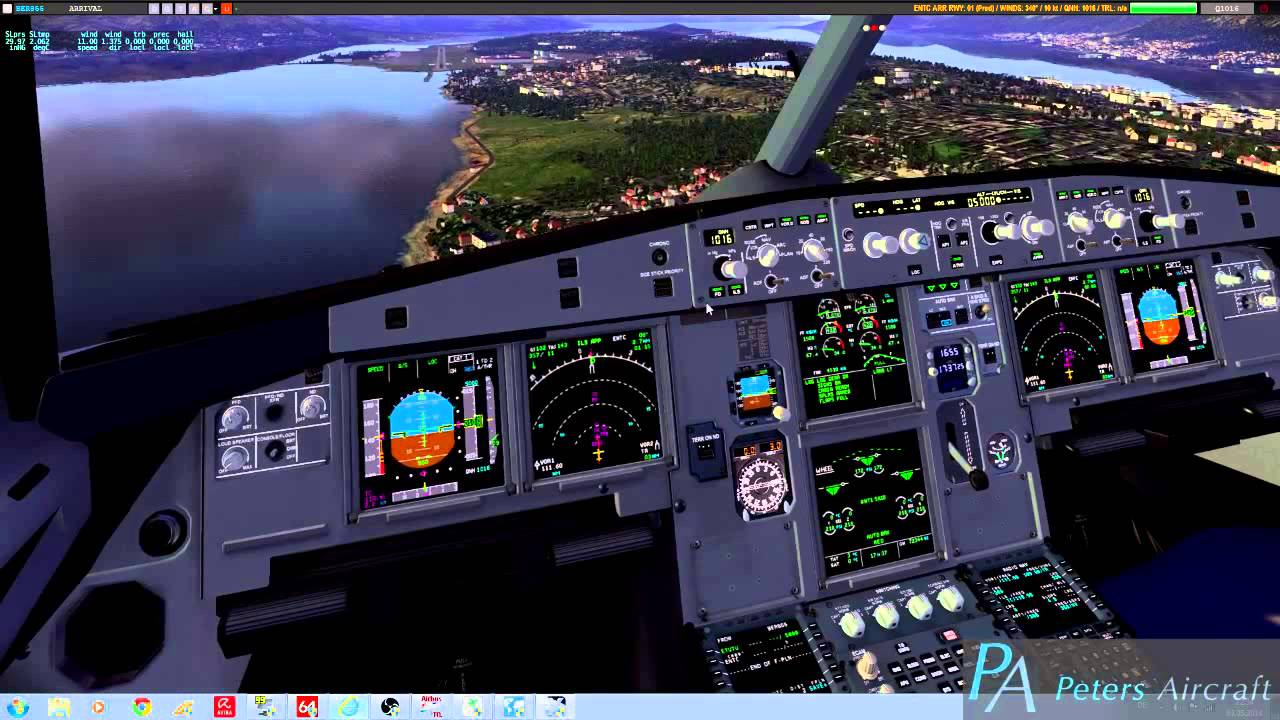 X-Plane 10: Landing at ENTC RWY 01 in Peters Aircraft A321