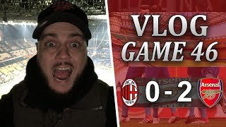 AC MILAN 0 v 2 ARSENAL - I WAS NOT EXPECTING THAT - MATCHDAY VLOG