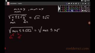 Köklü sayılarla ilgili formülün ispatı Video