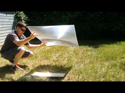 Fresnel lens experiment #1