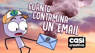 Cuánto contamina un email | Casi Creativo