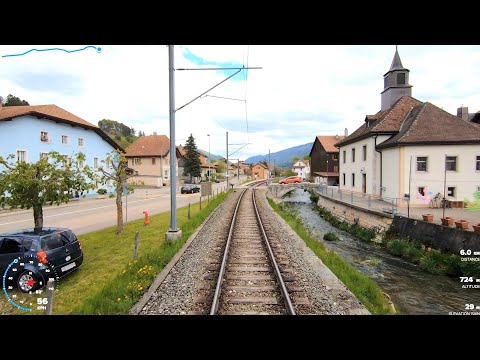 ★ 🇨🇭Scenic cab ride Sonceboz-Sombeval - Moutier - Solothurn, Switzerland [Spring]