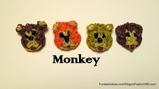 Rainbow Loom Monkey Face Emoji/Emoticon Charm - How to