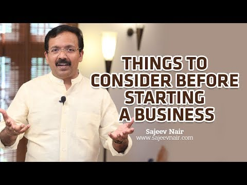Things to consider before starting a business - Sajeev Nair - English Motivation