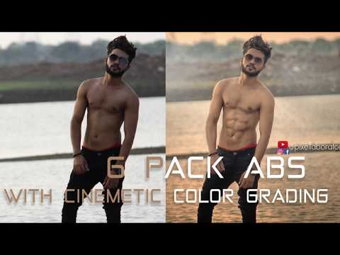 Cinematic Color Grading | 6 Pack Abs | Photoshop Simplest Technique