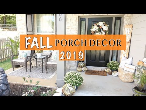 Fall Front Porch Decor 2019 🍂 Fall Decorate with Me Porch Decor Inspiration