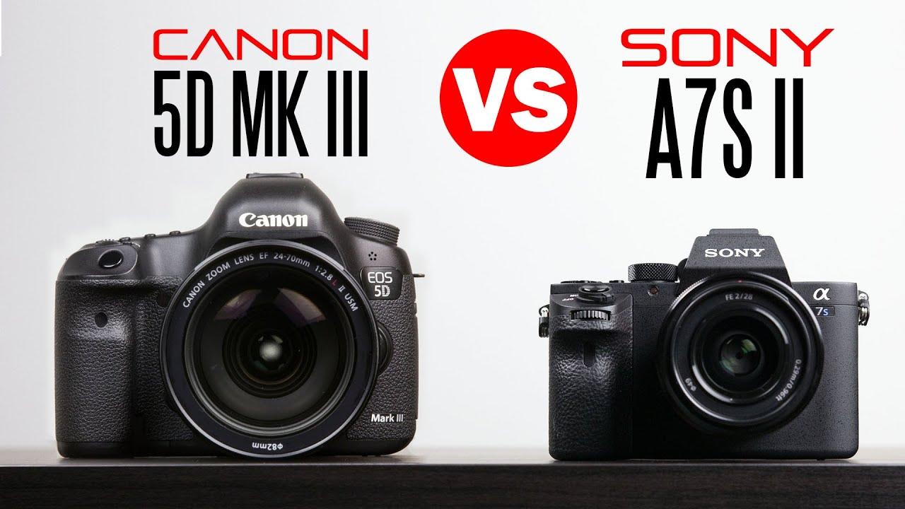 Sony A7s ii vs Canon 5D Mark iii - Full Camera Comparison - YouTube