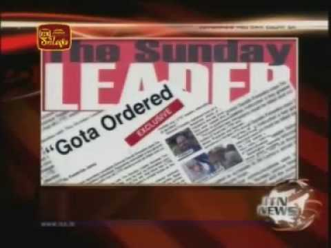 Sarath Fonseka Betrayed my country - Sunday leader Confirmed his statement in Sri Lanka News