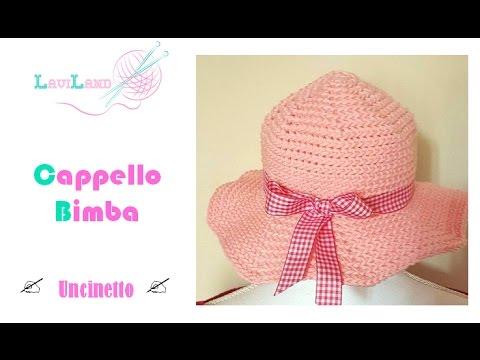 selezione premium la moda più votata vendita calda online Cappello Bimba - Uncinetto - Baby Hat - crochet -