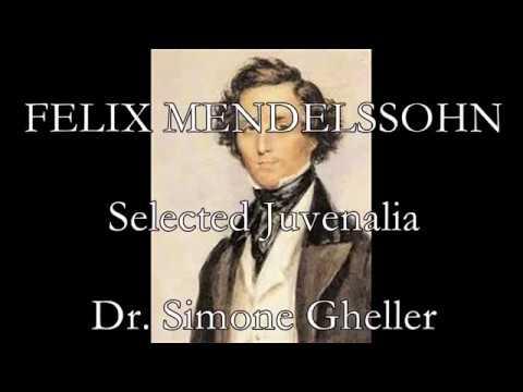 FELIX MENDELSSOHN: The complete orga works I (Juvenalia)