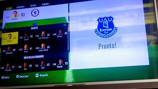 FIFA 17 PS3 gameplay Chelsea x Everton (Premier league)
