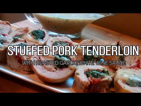 PORK TENDERLOIN STUFFED WITH PROSCIUTTO, PARM & SPINACH