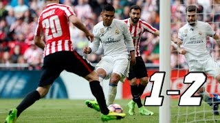 athletic bilbao vs real madrid 1 2 todos los goles y jugadas del partido la liga 18 03 2017