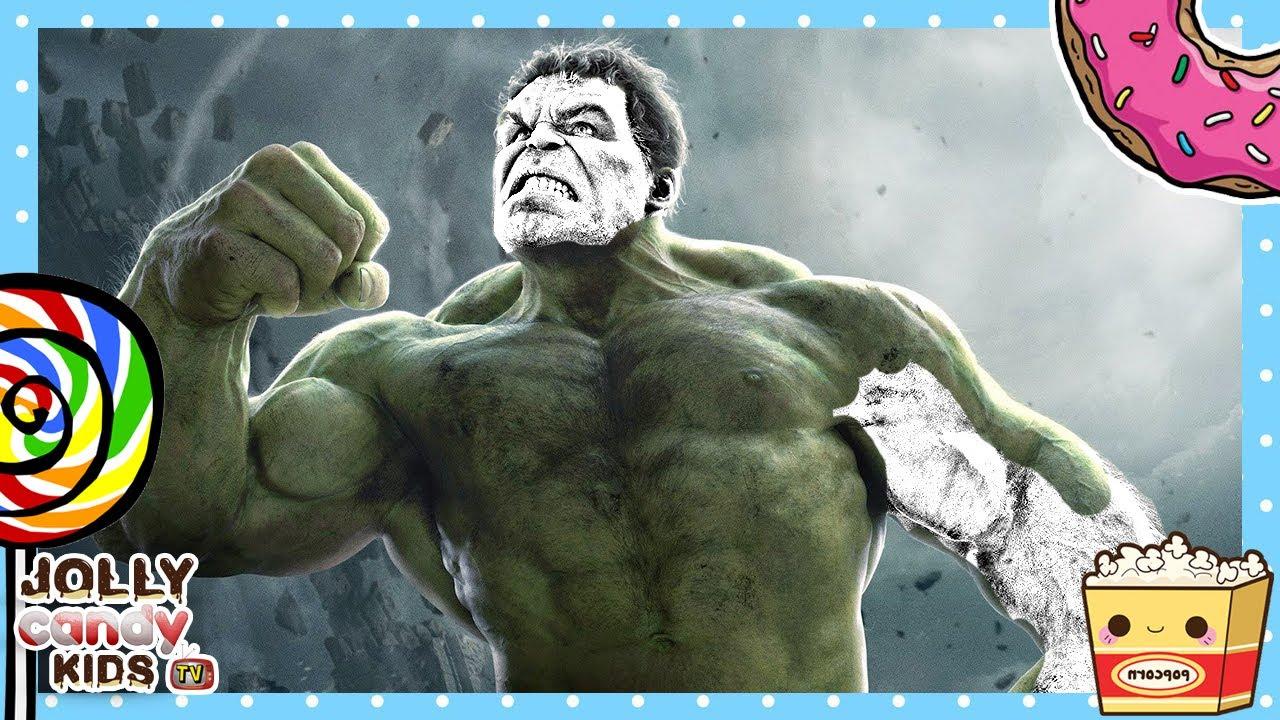 Hulk Superheroes Marvel Super Coloring Book Video For Kids Youtube